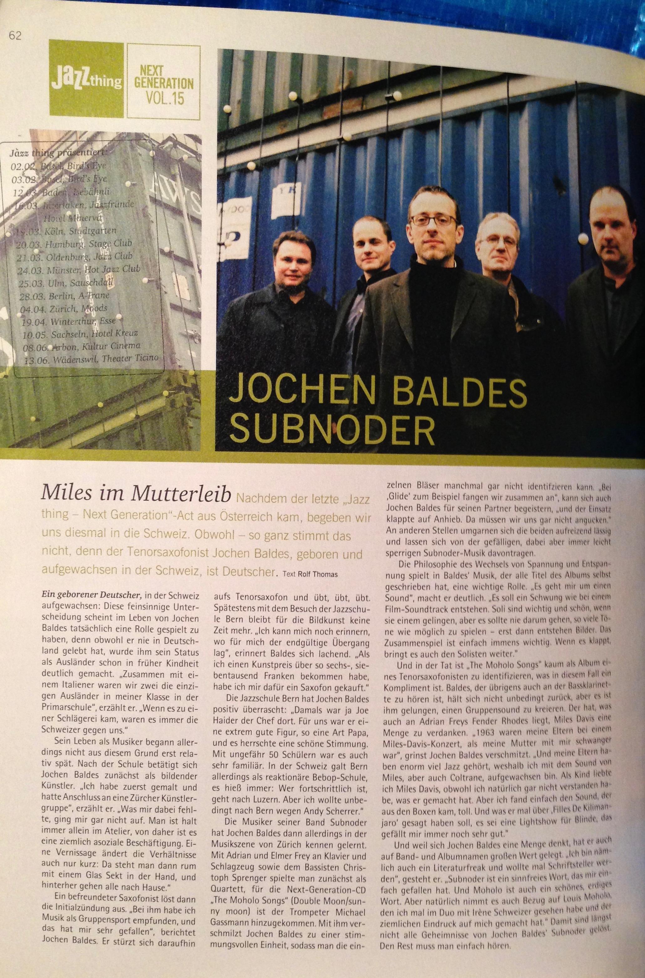 Baldes Jazzthing
